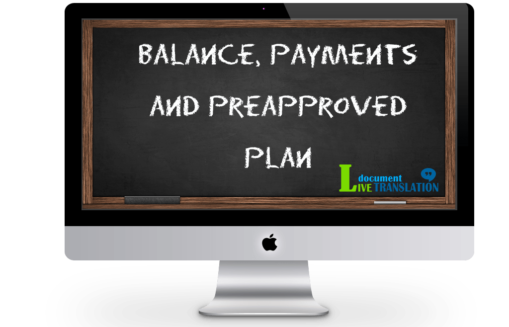 Client balance reserved and pre-approved plan